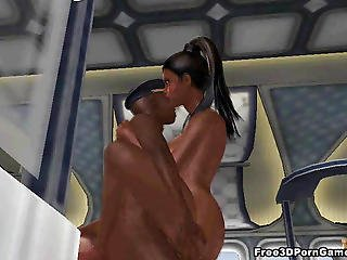 3d Ebony Babe Getting Fucked Hard On An Airplane