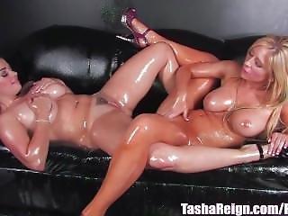 Tasha Reign Gets Wet & Glittery With Girlfriend!