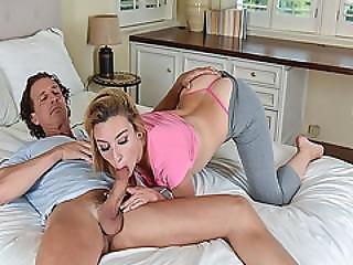 Alexa Raye Swallows Dads Big Matured Cock