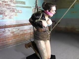 bondage, seins, bottes, lesbienne, star du porno