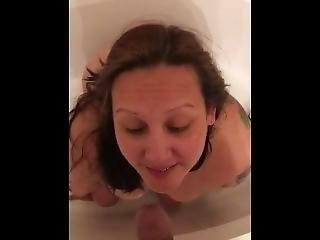 My Whore Gets A Golden Shower & Drinks Piss