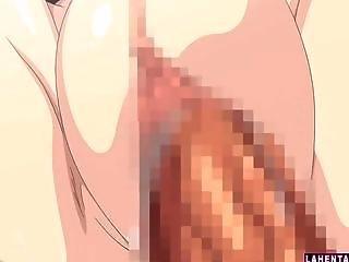 Cute hentai schoolgirl gets fucked outdoors