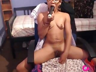 Barely Legal Black Skinny Julesxoxo With Small Pierced Tits 18flirt
