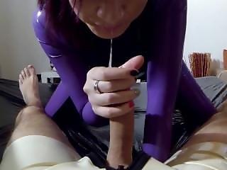 キャットスーツ, 精液をショット, 手淫, ラテックス