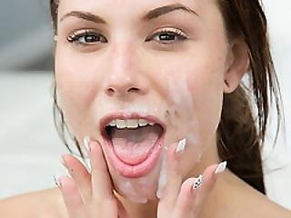 Teen Aidra Fox Get Face Covered With Cum From A Huge Cock