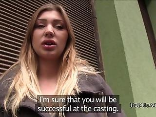 Public Agent With Money Takes Sexy Blonde Euro Amateur Babe In Some Basement And There Pulls Out His Big Cock And Fucks Her Shaved Pussy Pov