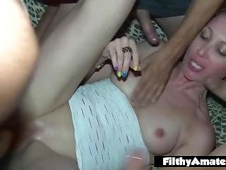 Gangbang With Nympho Milf! Nasty Whore!