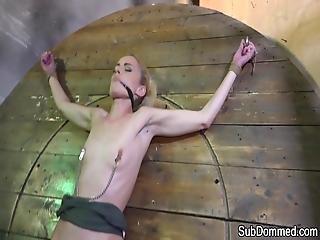 БДСМ, рабство, граница, с кляпом во рту, рвотные движения, оргазм