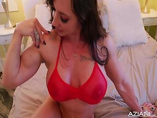 Fitness Mom Milf Orgasms With Big Black Dildo