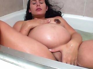 Pregnant Woman Masturbates In Bathtub - Www.ispywithmyhiddencam.com