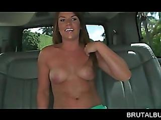 Tanned Blonde Dealing With A Huge Pecker