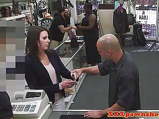 Pawnshop Milf Strips Before Facial For Money