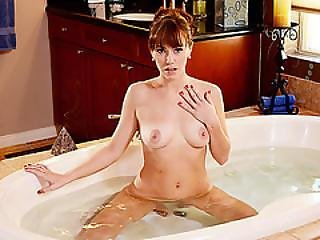 Babe Alana Gets Banged On The Bathroom Floor By Hunk Stud Jake