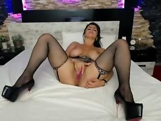 Caught Wife Masturbating On Webcam