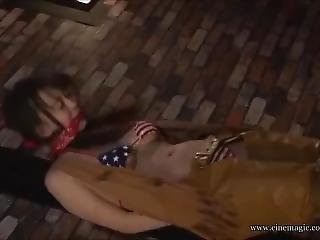 Japanese Cowgirl Tied