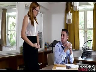 Redhead Beauty Eva Berger Fucked By Boss