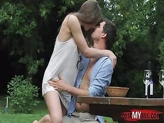 Brunette Pornstar Anal With Cumshot