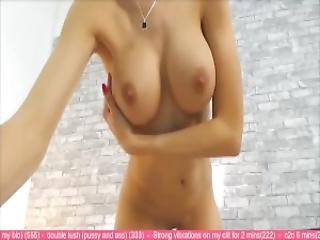 Slender Goddess With A Gorgeous Body Playing With Herself