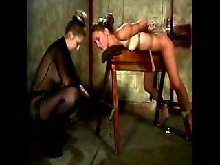 Slut Faces Her Dom On Her Work Bench