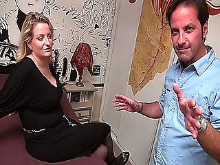 German Milf With Enormous Tits Gets Fucked By A French Guy Anal Pierced