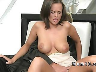 Exotic Busty Mature Fucks In Easy Chair