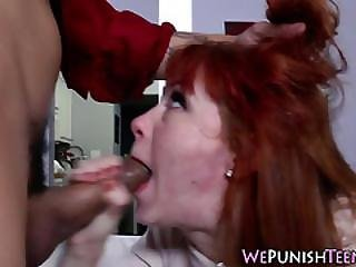 Teen Gets Pounded Rough