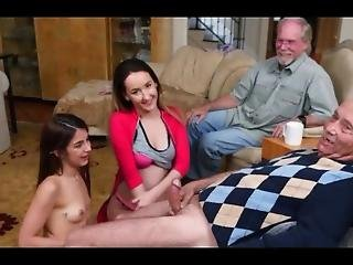 2 Young Chicks For 2 Old Men