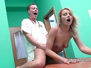 Doctor Bangs Blonde Behind Hubbys Back