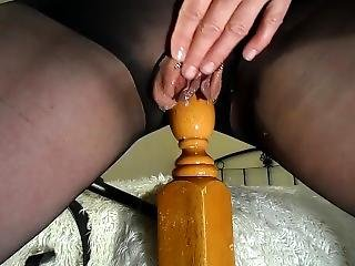 Amateur Milf Rides Her Bedpost Again! Multiple Squirting Orgasms