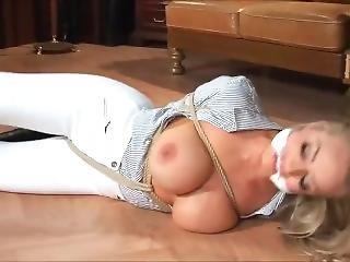 Hannah Tied In Floor