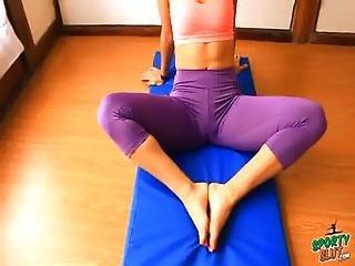 Tight Ass Teen Stretching And Doing Hot Yoga. Ass N Cameltoe.