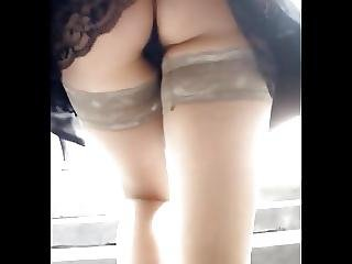 A Smoking Ass Upskirt