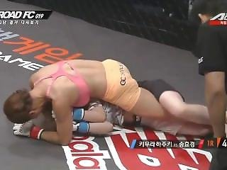 Pretty Mma Fighter In Fight