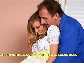 Nicole Ray - Perverted Husband Huge Cock Seduces Blonde Teen Nanny