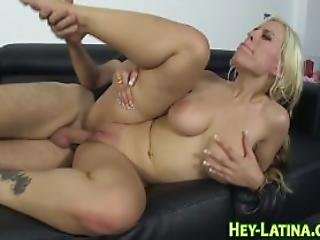 Real Blonde Latina Gulps
