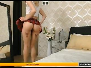 D1@n@ H@y3s - Hot Ass Blond Teen - Schoolgirl Without And With Fake Tits