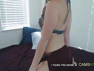 Cute Lila Dildo Fuckin Her Pretty Pink Pussy On Bed