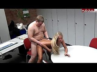 Blonde German Hottie Gets Fucked By Fan