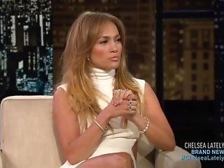 Jennifer Lopez - Chelsea Lately 21-8-2014 Leggy Booty In Tight Dress