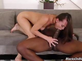 Aidra Fox Rides Big Black Cock