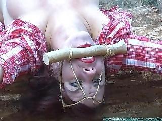 bondage, solo, écarter