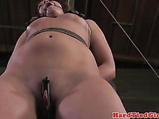 Frogtie Hogtied Slut Being Suspended