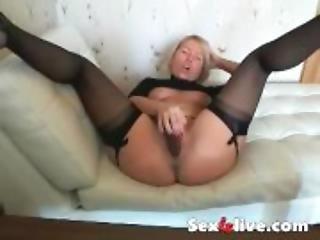 Big butt milf in lingerie spread legs