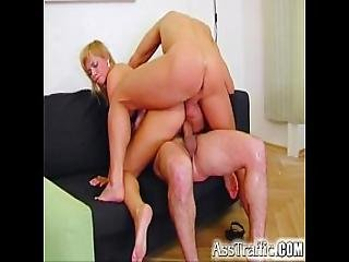 Ass Traffic Ellen Saint Gets Butt Slammed By Dual Cocks