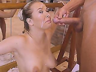 anal, rompe, blond, blowjob, knulling, gonzo, hardcore, naturlig