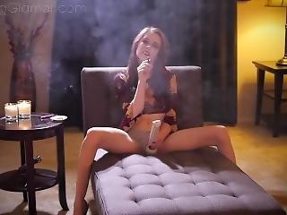 glamour, star du porno, fumeur