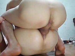Korean hairy cunt gets dicked deep