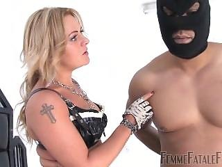 Busted Burglar - Mistress Athena - Ball Busting - Female Domination - Boots