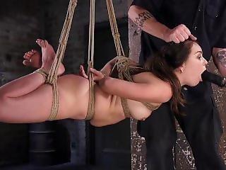 Juliette March Endures Brutal Bondages And Made To Cum!