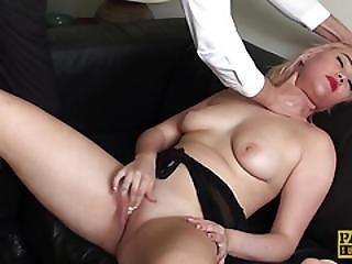 Spanked Sub Slut Submited Into Masturbation